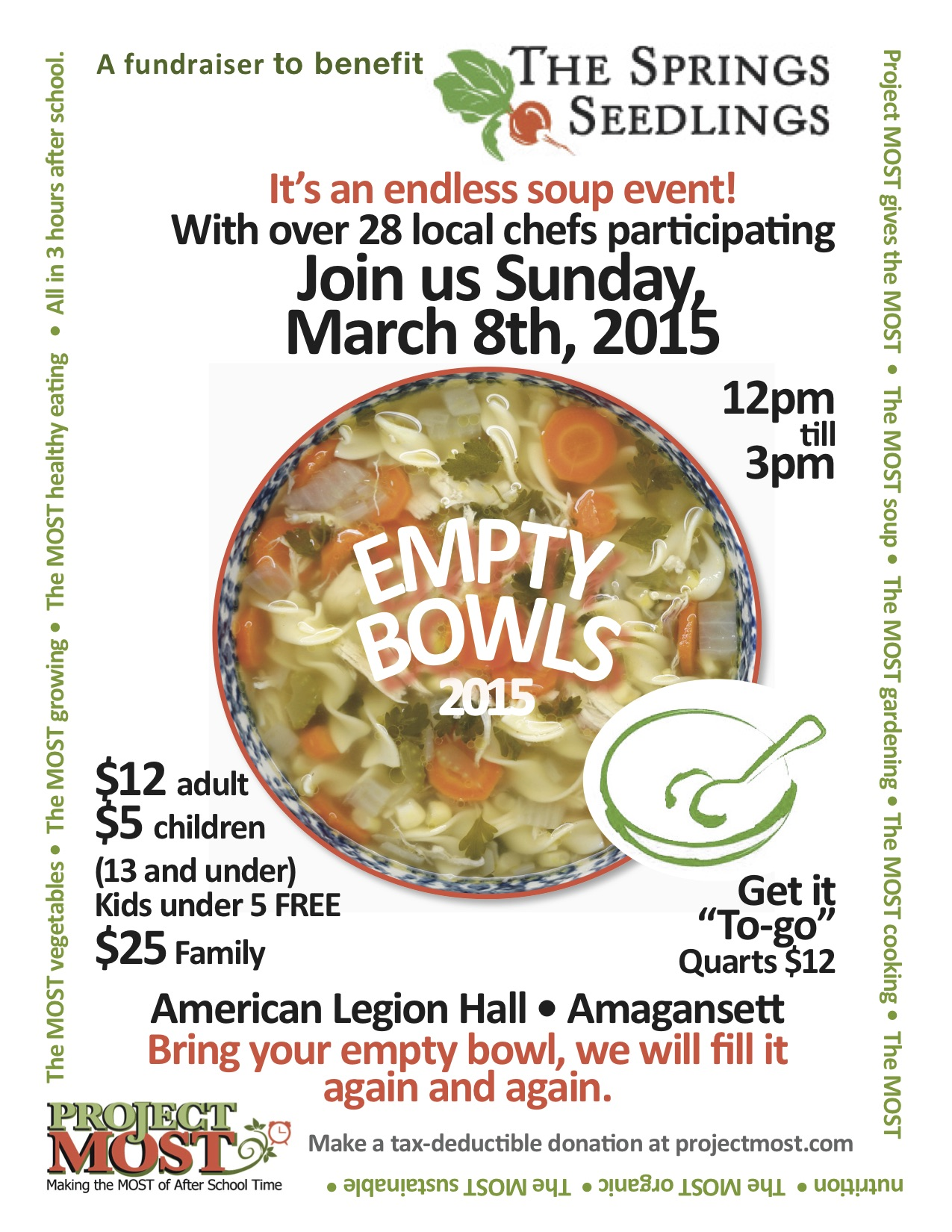 project most empty bowls east end taste