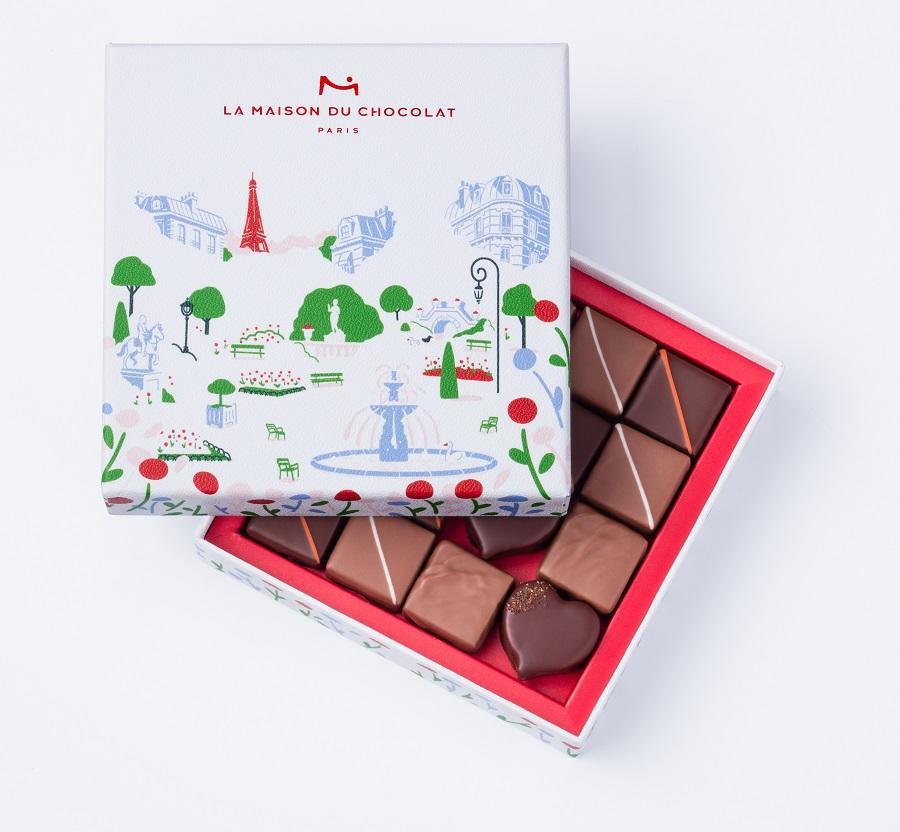 La Maison du Chocolat – Au Coeur des Jardins Coffret de 16 chocolats – 30Gé - East End Taste