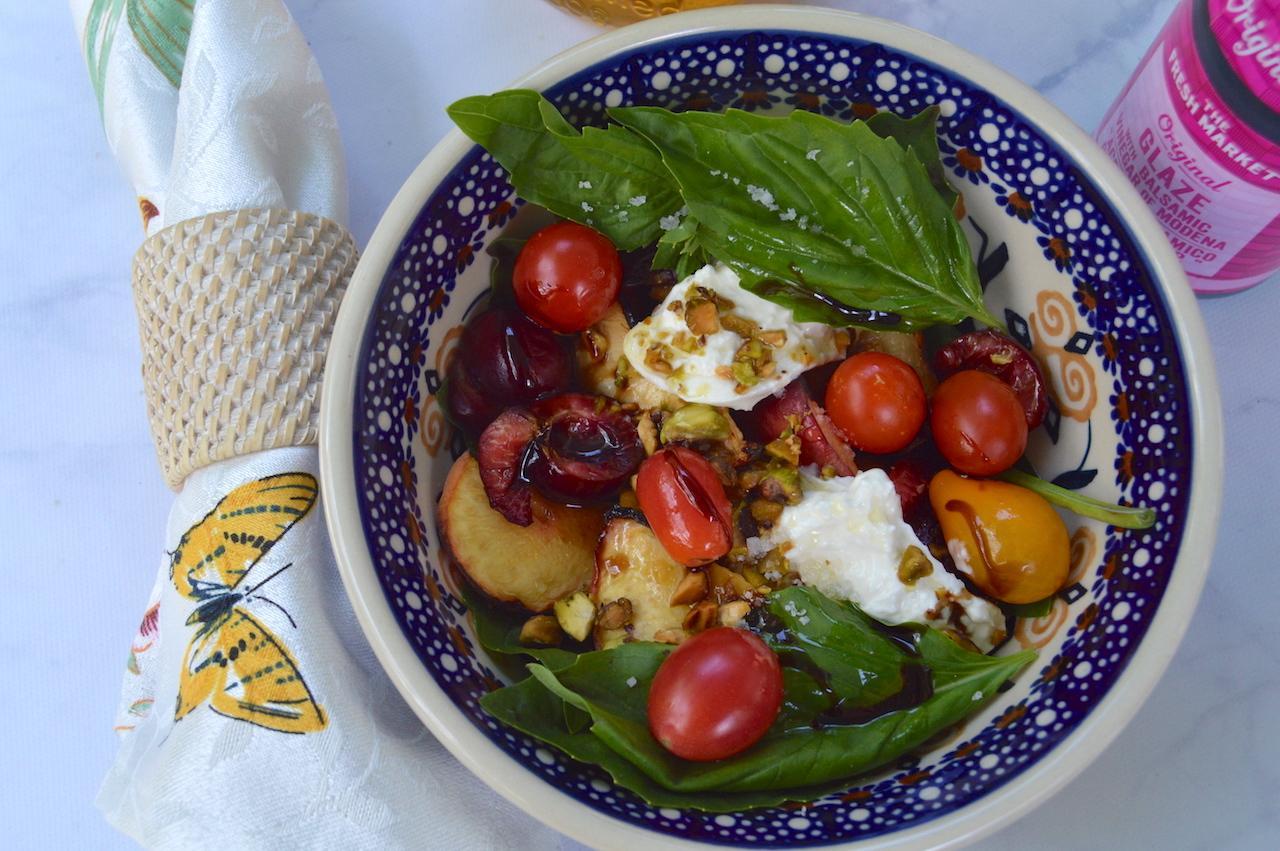 Peach Basil Burrata Salad The Fresh Market