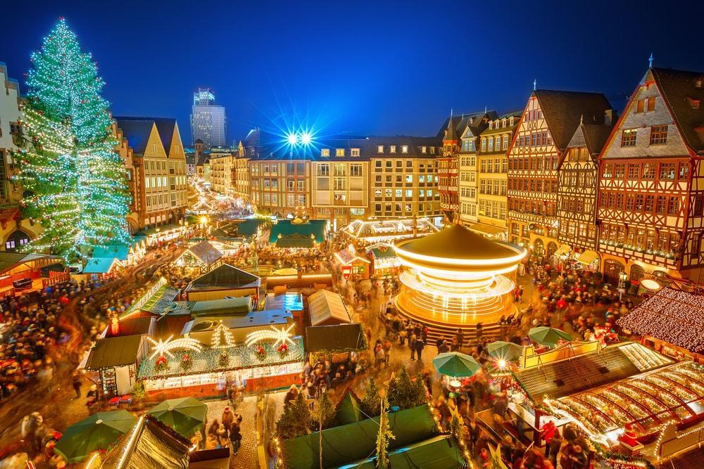 Christmas Holiday Market Frankfurt Germany