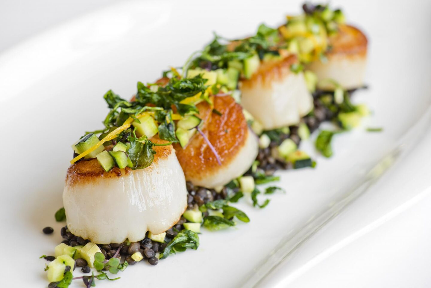 Sea Scallops The Ballantyne, A Luxury Collection Hotel East End Taste