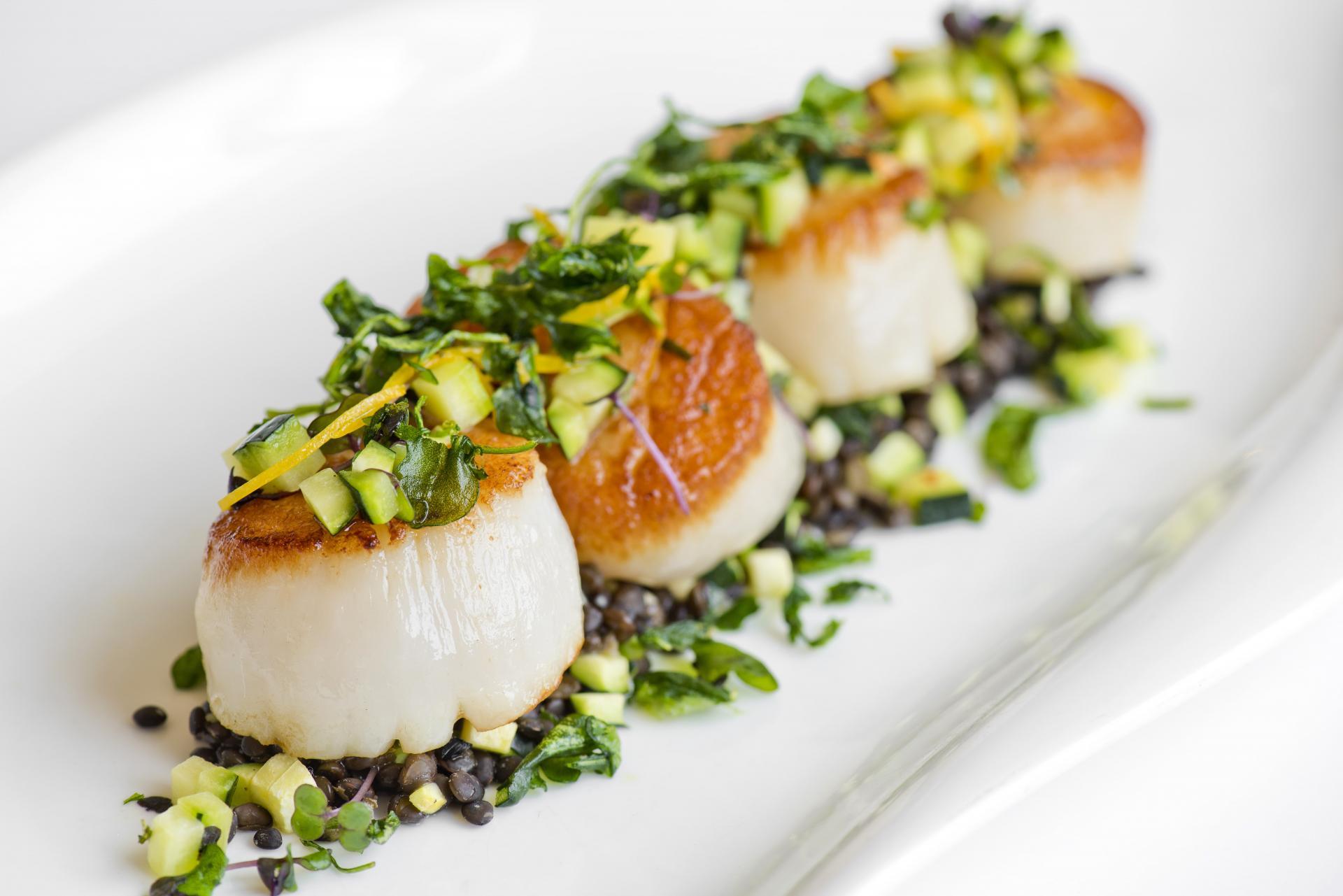 Sea Scallops The Ballantyne, A Luxury Collection Hotel East End Taste