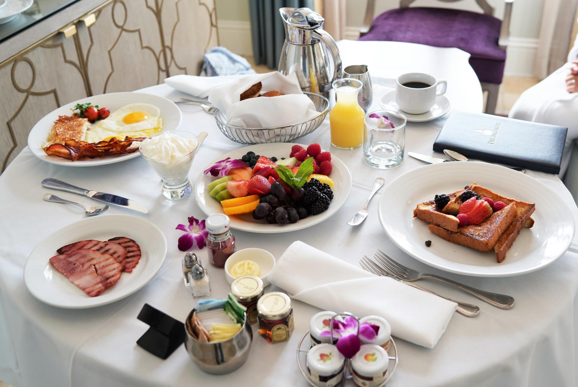 room service breakfast biltmore hotel coral gables east end taste