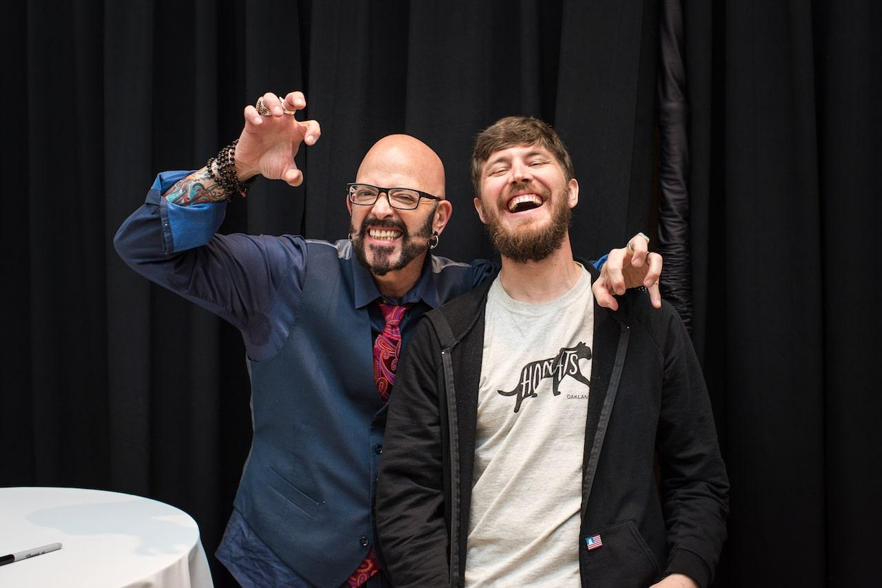 Jackson and Adam Myatt jackson galaxy cat camp nyc east end taste