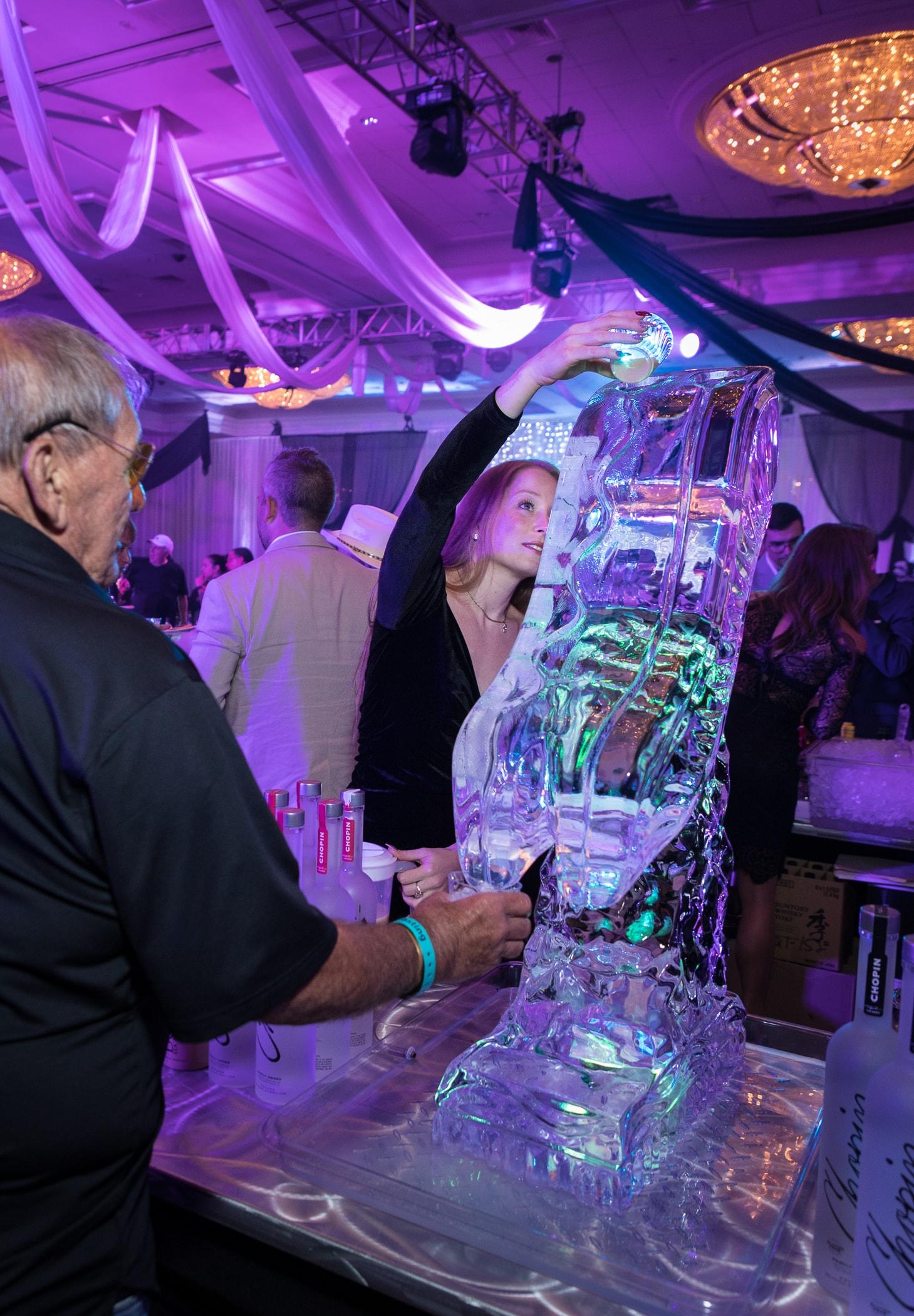 Chopin vodka ice luge at the Grand Tasting-min