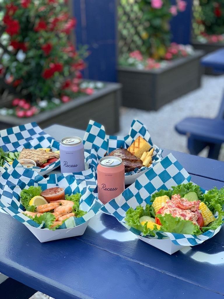 hooked montauk east end taste lobster roll recess beverage