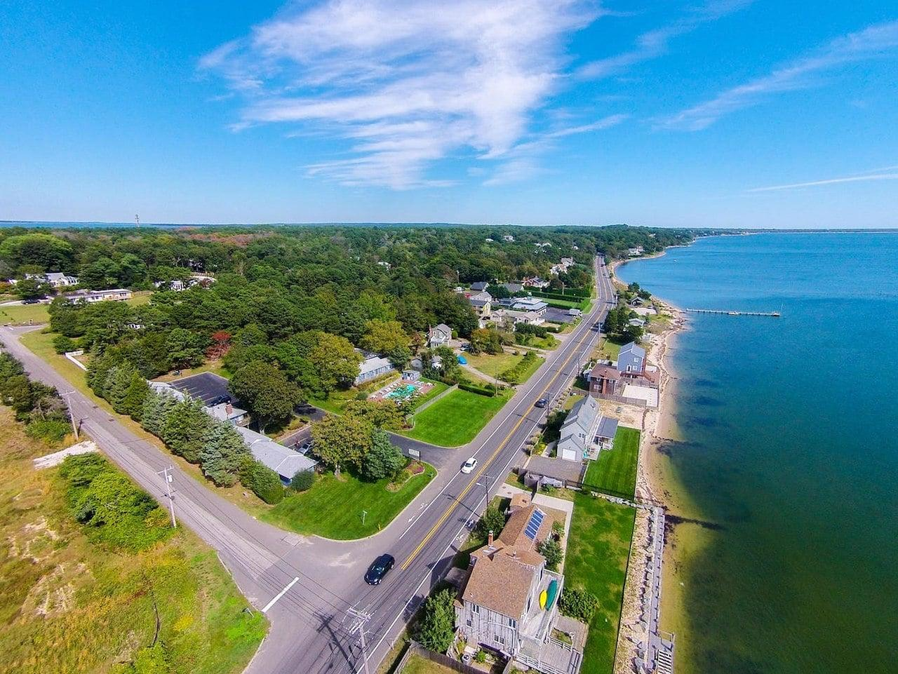 the hamptons aerial shot