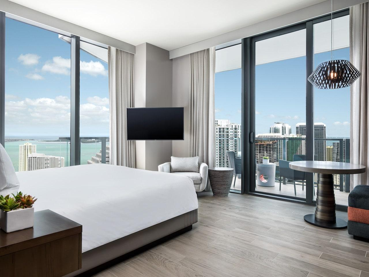 EAST Miami Brickell bedroom