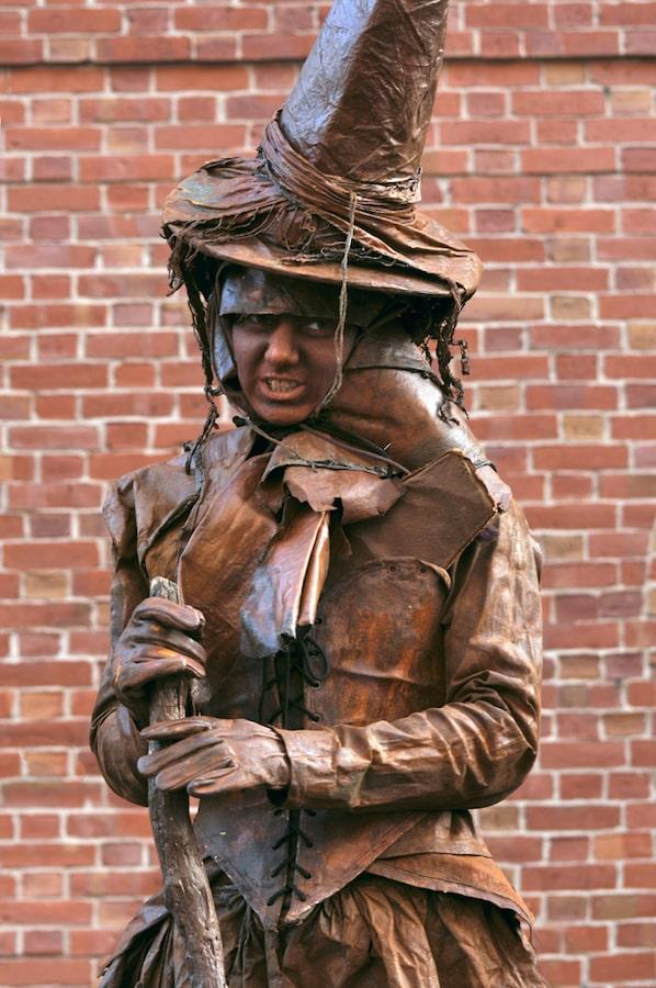 salem witch trials statue