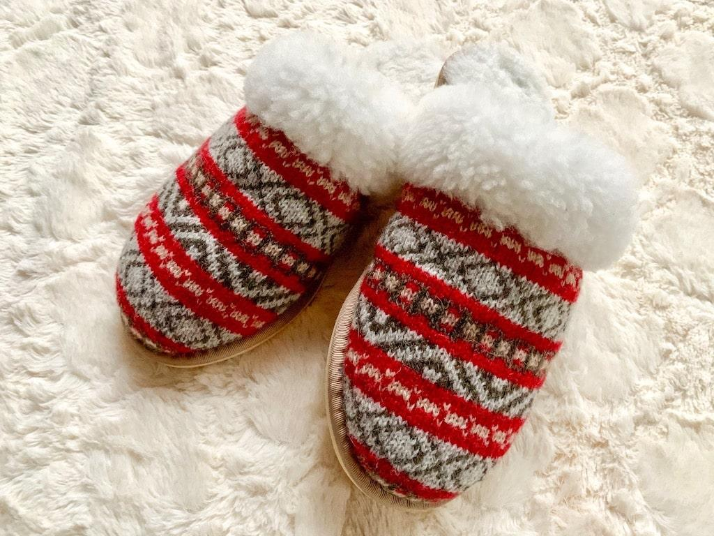 fair isle mules slippers holiday gift guide celtic and co