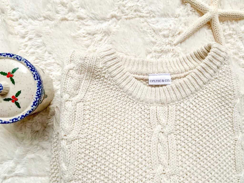 cable knit sweater celtic & co.