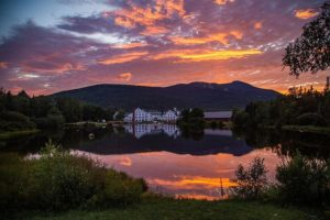 waterville valley new hampshire resort sunset lake