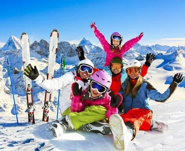 ski family winter vacation winter break