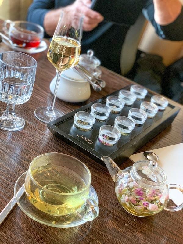 london marriott hotel park lane festive afternoon tea 2019 tea selection jing