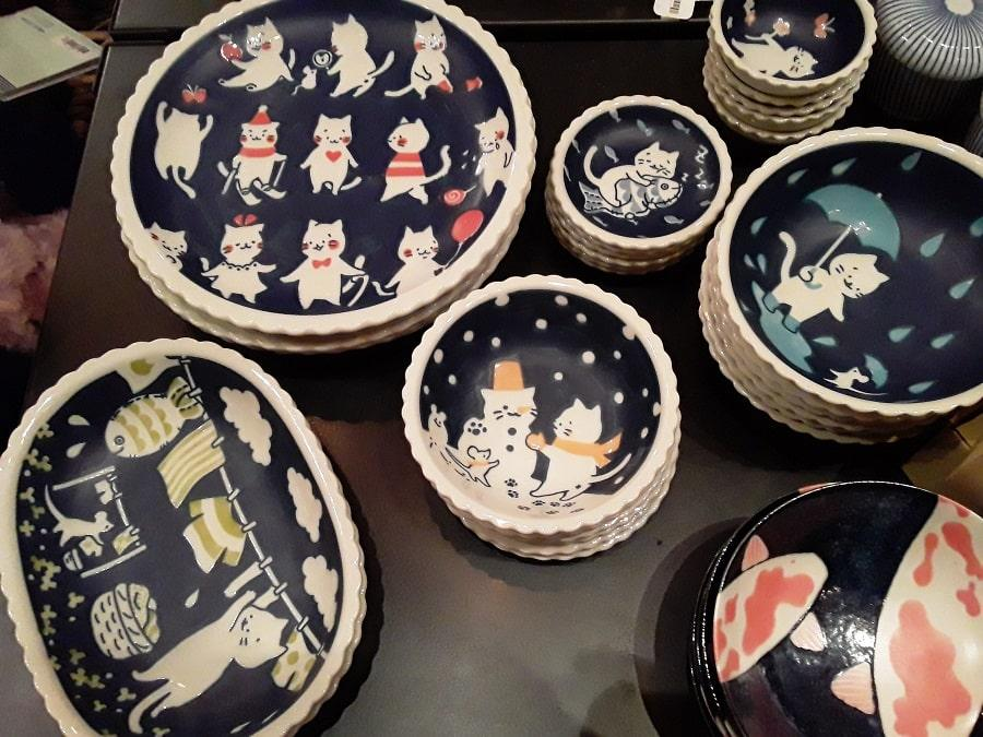cat dishes at new morning market holiday pop up