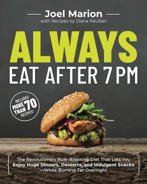 always eat after 7 pm book cover joel