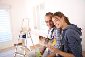 couple redesigning redecorating home