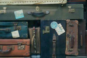 vintage travel suitcases