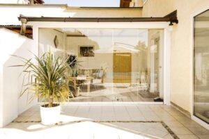 modern interior design glass door