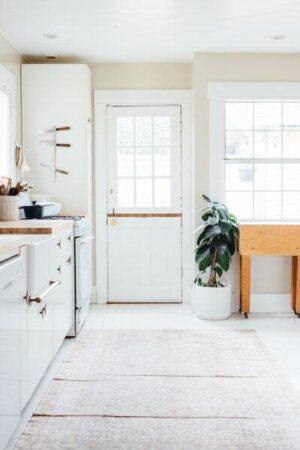 white interior kitchen natural light