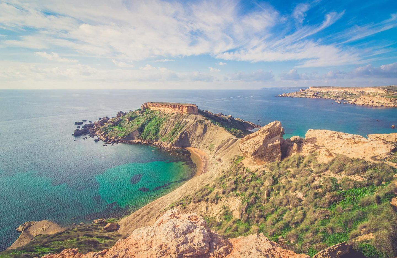 malta coastline winter europe travel